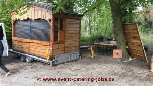 Schloss Ippenburg Flammlachs Hütte Aufbau 2017