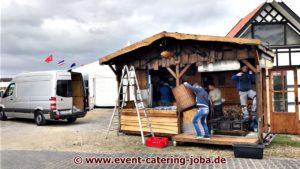 Horses & Dreams Aufbau Flammlachs Stand JoBa Event Catering