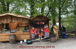 Flammlachs Stand Aufbau Schloss Ippenburg