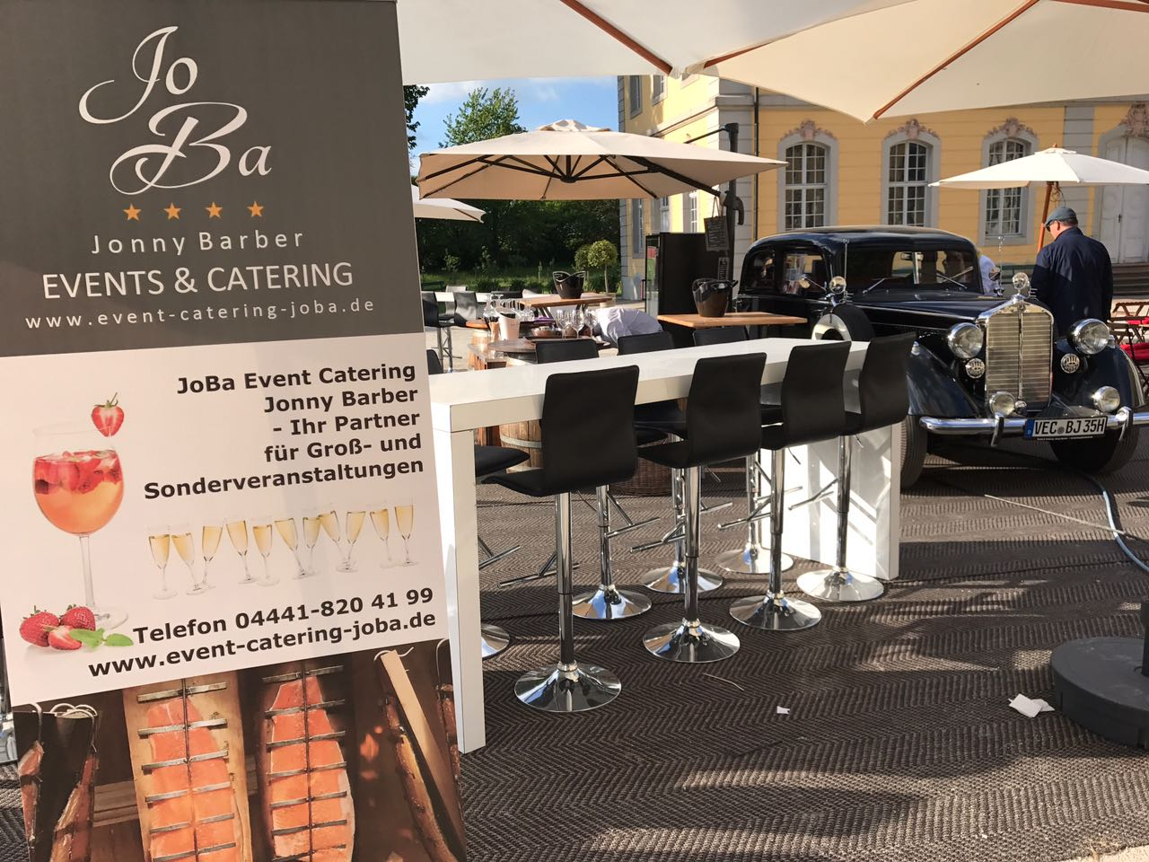 champagner bar von joba event catering jonny barber. Black Bedroom Furniture Sets. Home Design Ideas