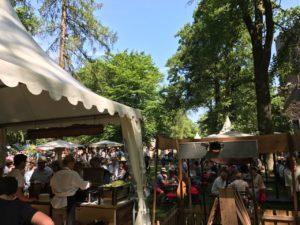 Gartenfest Hanau 2017 mit Flammlachs vom offenen Buchenholzfeuer